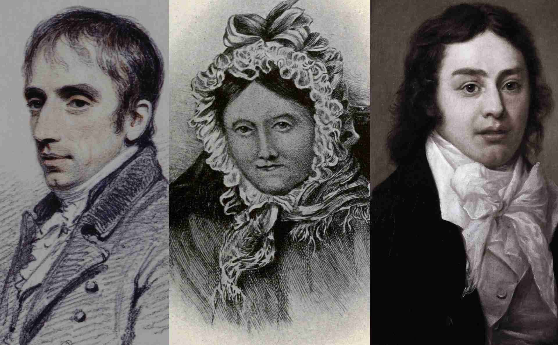William and Dorothy Wordsworth with Samuel Taylor Coleridge